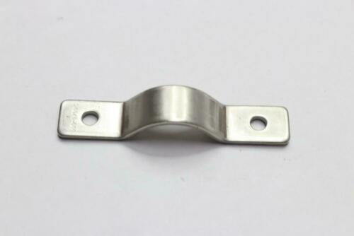 """Qty 22-3//8/"""" Stainless Steel Eye Strap 2-Hole for 11//16/"""" OD Pipe"""