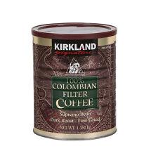 Kirkland Signature 100% Colombian Filter Coffee Dark Roast, 1.362Kg Tub Sealed