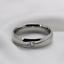 Anello-Fede-Fedina-Fidanzamento-Uomo-Donna-Acciaio-Inox-fascia-solitario miniatura 5