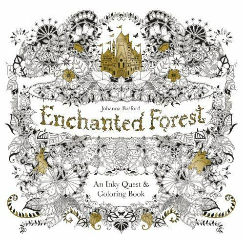 Enchanted Forest : An Inky Quest And Coloring Book By Johanna Basford  (2015, Trade Paperback) For Sale Online EBay