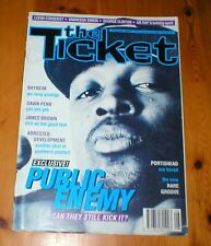THE TICKET magazine Aug 1994 PUBLIC ENEMY Portishead George Clinton James Brown