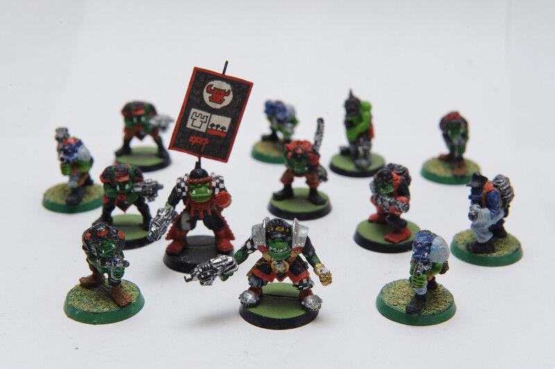Warhammer 40K Oak Army and Hot Splat Field Gun - metal, painted figures