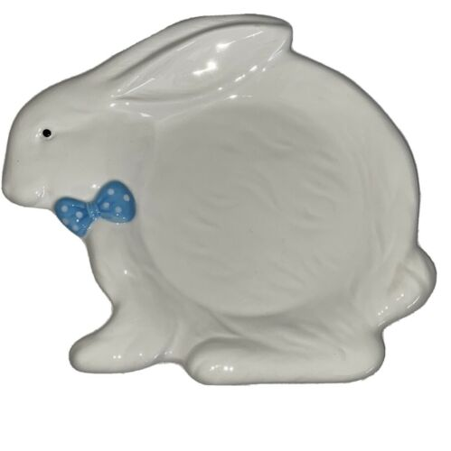 Yankee Candle Bunny Candle Tray Plate Jar Holder Bunny Hop Collection NEW