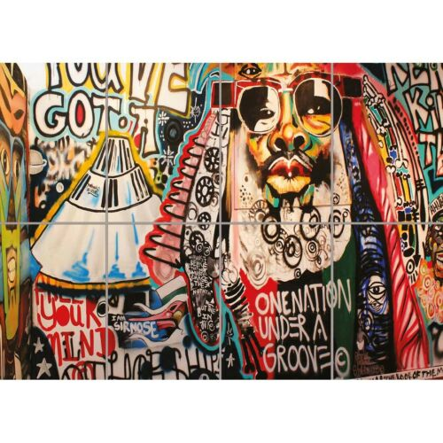 Graffiti Street Art George Clinton Giant Art Print Home Decor New Poster
