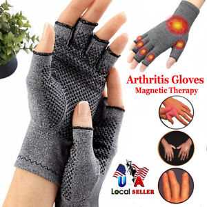 Copper-Compression-Gloves-Carpal-Tunnel-Hand-Finger-Arthritis-Joint-Pain-Relief