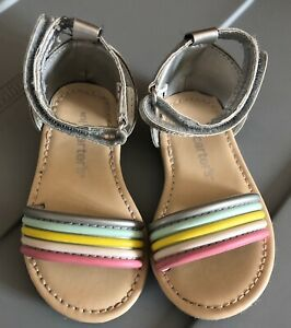 Carters Toddler Girls Sandals Shoes Size 5 Rainbow Spring ...