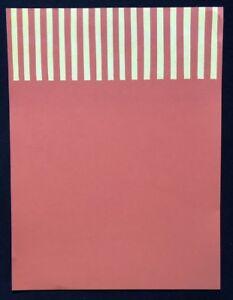 Michael Bauch, für Orange, Farblinolschnitt, 1993, handsigniert