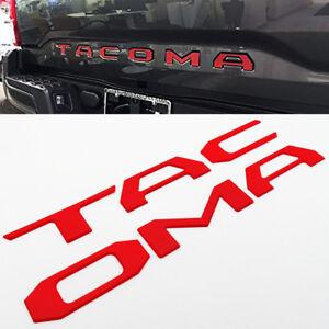 Chrome 16-19 Tacoma Liftgate Tailgate Insert Letters Adhesive Nameplate Emblem