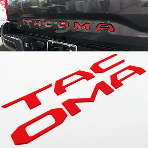 16-19 Tacoma Liftgate Tailgate Insert Letters Adhesive Nameplate Emblem Red