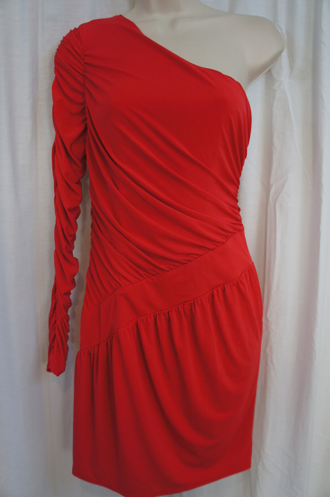 Laundry By Design Dress Sz 6 Melon rot Cocktail One Shoulder Evening Party Wear