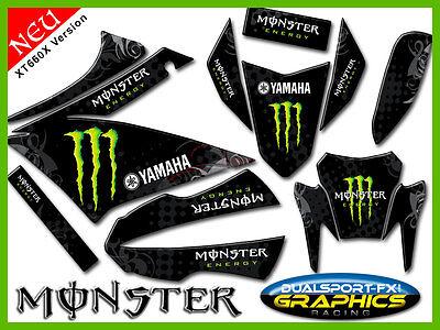 """YAMAHA XT 660 X  """"MONSTER RACE""""  FULL DEKORSATZ, Stickers, Aufkleber für XT660 X"""
