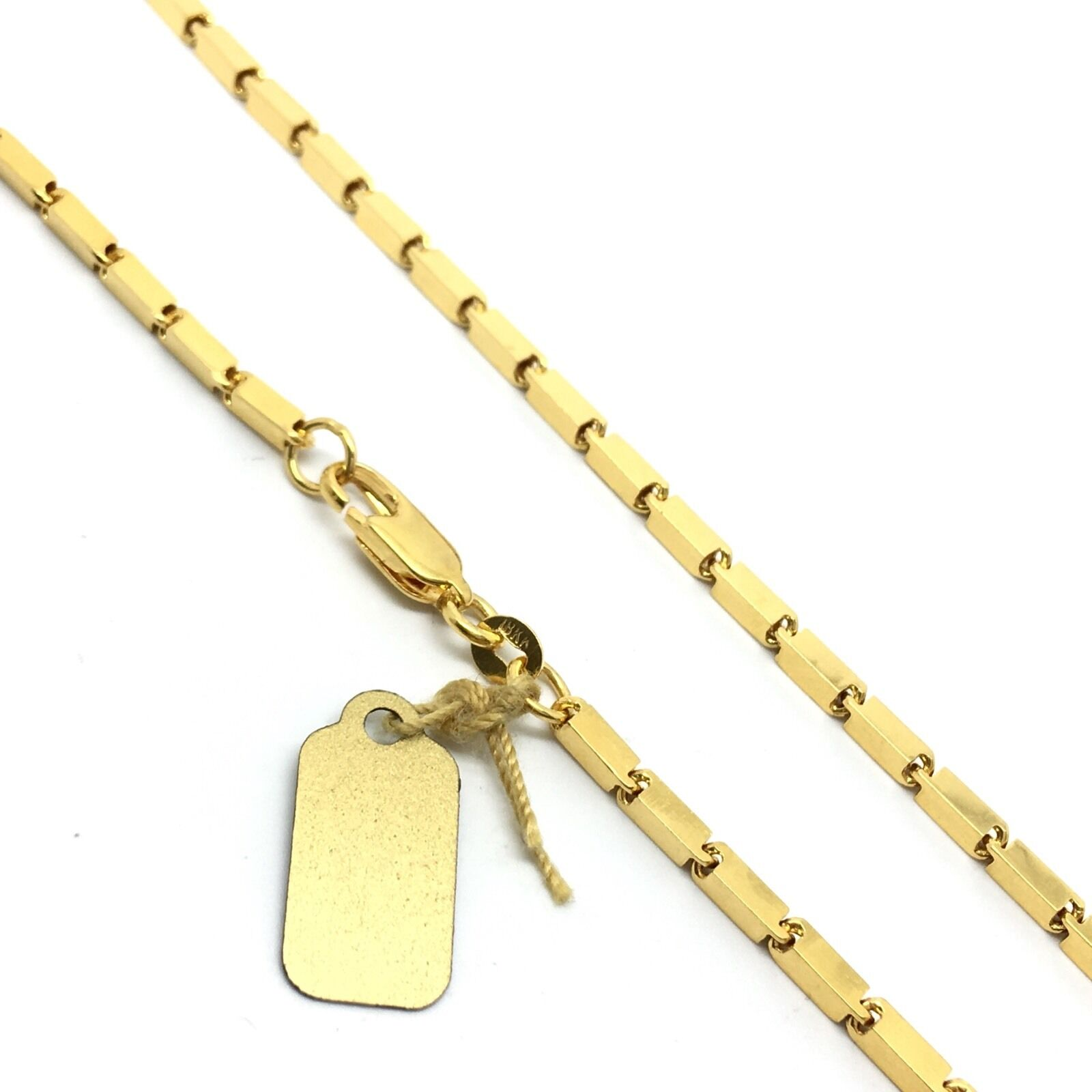 18K Solid Yellow gold Box Chain
