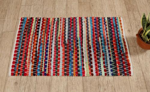 Indian Traditional Chindi Tribal Cotton Rug Carpet Door Mat Floor Carpet Rug
