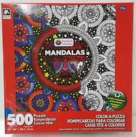 Rd Karmin® 500pc Color•a•puzzle Adult Mandalas Coloring Puzzle Jig Saw 500 Pc
