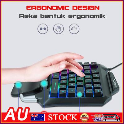 Details about  ZUOYA 35 Keys One-handed Gaming Membrane keyboard Ergonomic Keypad for PC