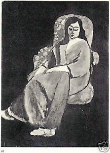 HENRI-MATISSE-1935-LITHOGRAPH-w-COA-Superb-Exclusive-Print-of-Elegant-RARE-ART