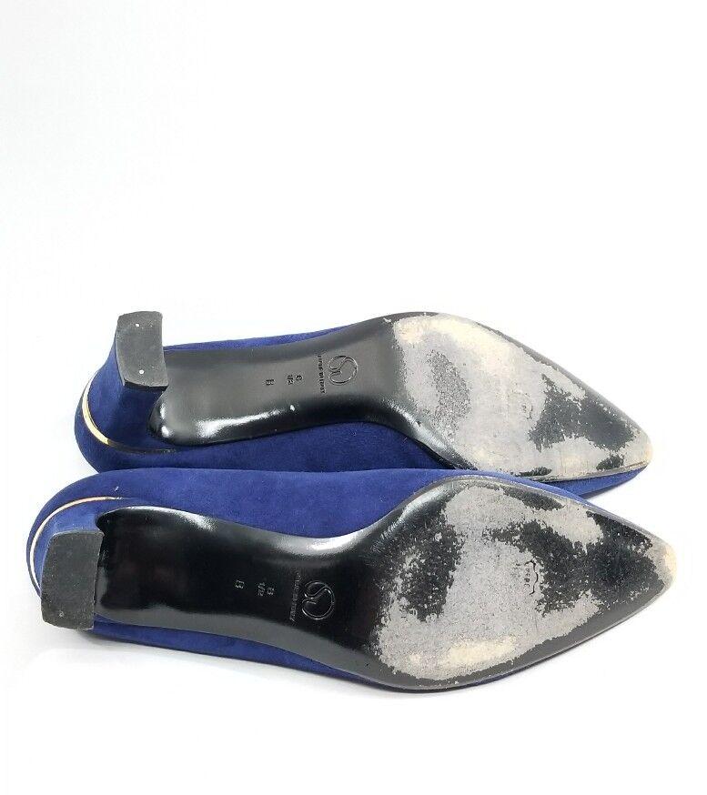 St. John Classic Vintage Blau Blau Blau Pumps Heels Suede 8.5 B  Nice 1c49e2
