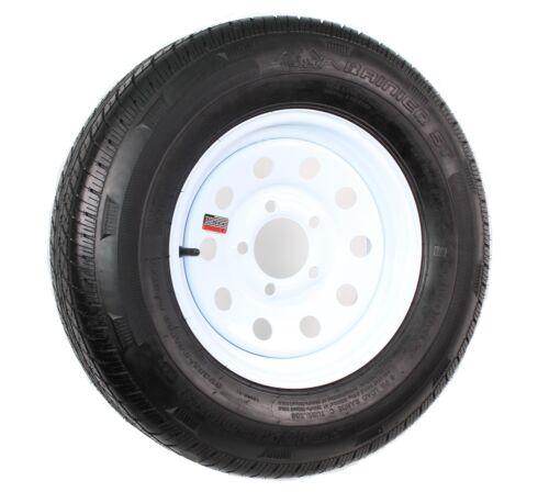 Radial Trailer Tire and Rim ST175//80R13 175//80 R 13 5-4.5 White Modular Wheel