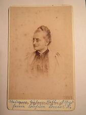 Leipzig - 1893 - Louise Czarnecki geb. Kaussmann als Frau mit Zwicker / CDV