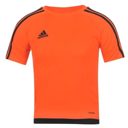 adidas Kids 3 Stripe Estro T-Shirt Junior Boys Short Sleeved Tee Top age 7---13