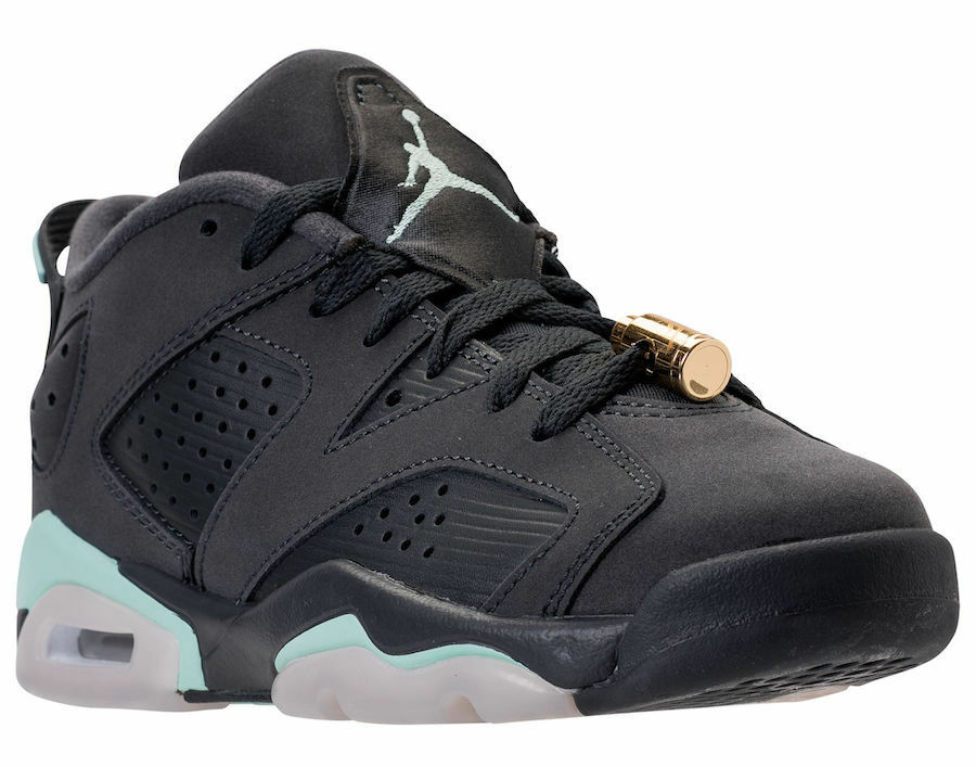 New Air Jordan 6 Retro Low GG - Size - 6Y - Anthracite/Mint Foam - Size 768878-015 4428ad