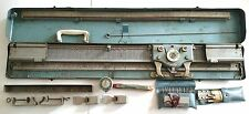 Vintage Brother Knitting Machine w/ Accessories in Blue Metal Case