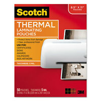 Scotch™ Letter Size Thermal Laminating Pouches 5 Mil 11 1/2 X 9 50/pack Tp585450 on sale