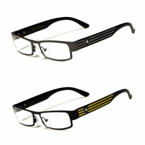 Small Women Clear Lens Square Rx Sunglasses Black Silver Designer Eyeglasses