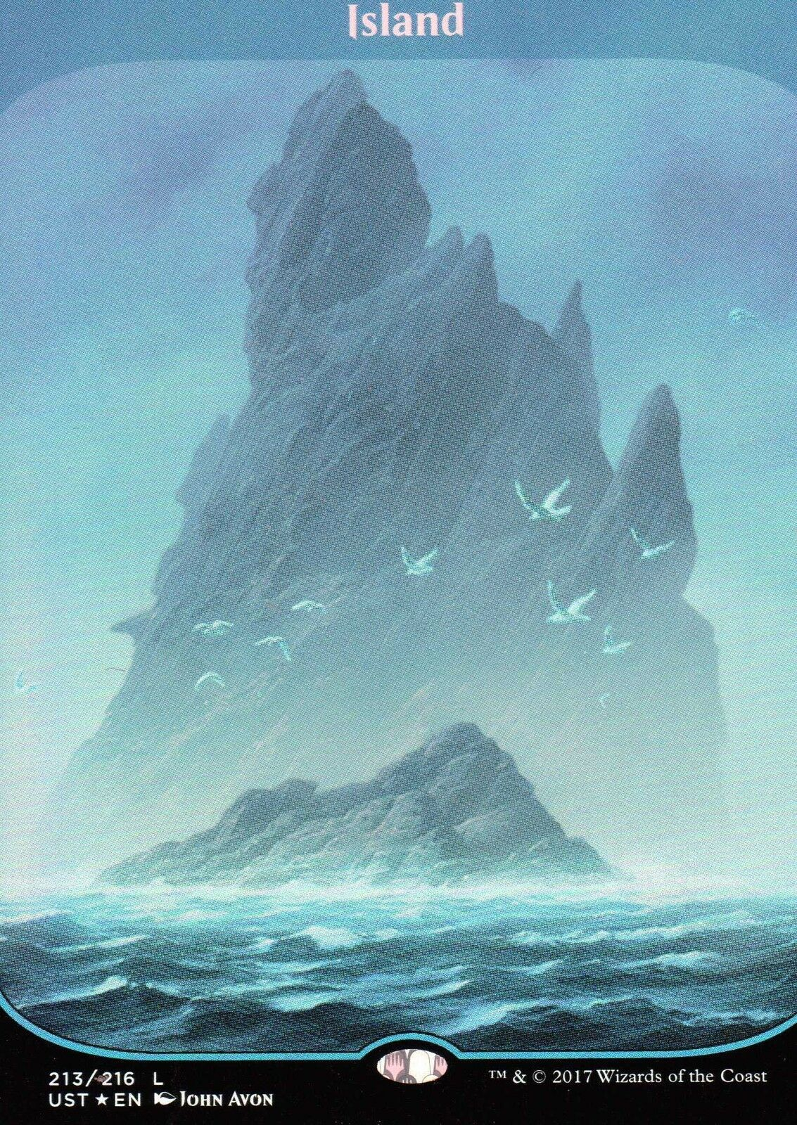 Island Island Island FOIL (Full Art)   NM M   Unstable   Magic MTG f31d30