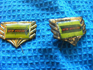 Lot-of-2-New-Hudson-motorcycle-very-old-lapel-hat-pin-badges