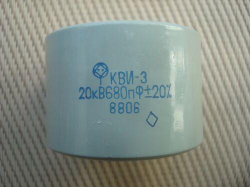 680pF 20kV Kondensatoren Ceramic Capacitor Silver Military 16kV 12kV 10kV 2pcs