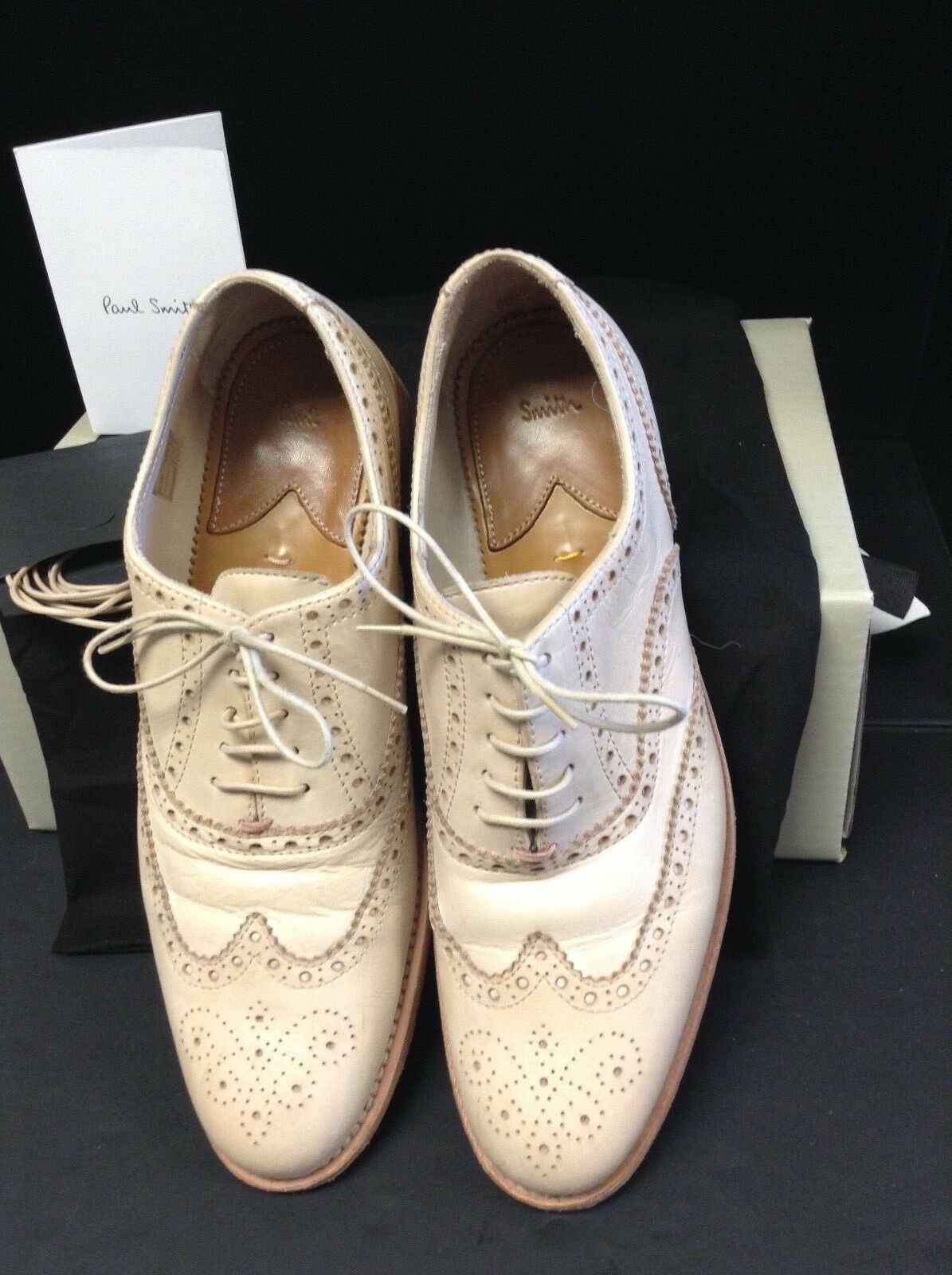 Paul Smith Pink Leather Lace up Brogues