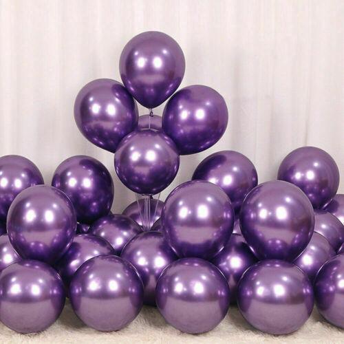10//20//30 Pcs Metallic Pearl Chrome Latex Balloons for Wedding Birthday PARTY