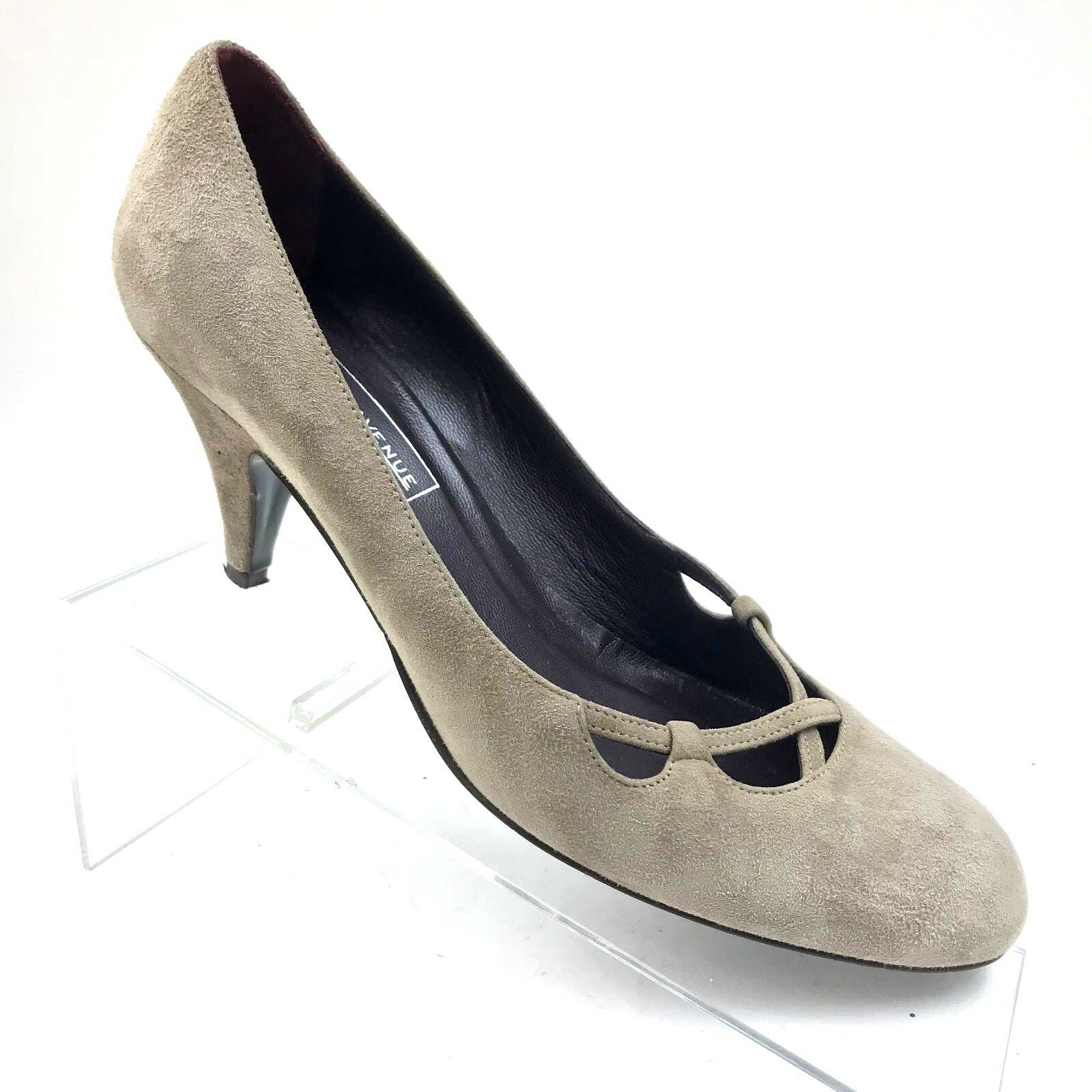 Saks Fifth Avenue Women's Size 8 B Medium Clay Fine Suede Pumps Heels  208