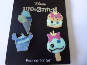 Disney-Trading-Pins-138579-Neon-Tuesday-Stitch-and-Scrump-Dessert-set