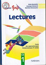 GAFI Lecturers * Manuel Scolaire CE1 NATHAN * BENTOLILA REMOND * Cours élémenta