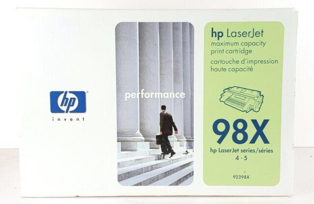 HP 98X LaserJet Series 92298X Microfine Toner Maximum Capacity New Sealed