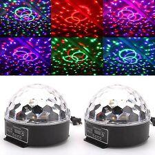 2pcs MAGIC Ball Stage Light Digital LED Lighting RGB Crystal Party DJ Club Show