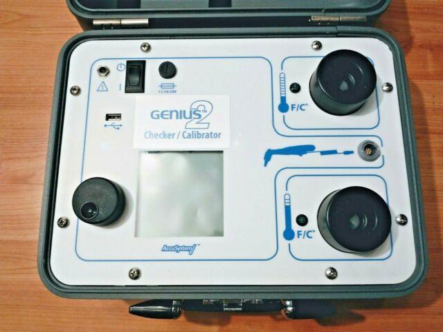 KENDALL GENIUS 2 CHECKER CALIBRATOR ACCU SYSTEM TYCO HEALTHCARE GOOD CONDITION