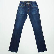 NUDIE Slim Jim Organic Dry Ecru Embo Mens Organic Cotton Skinny Jeans W30 L28