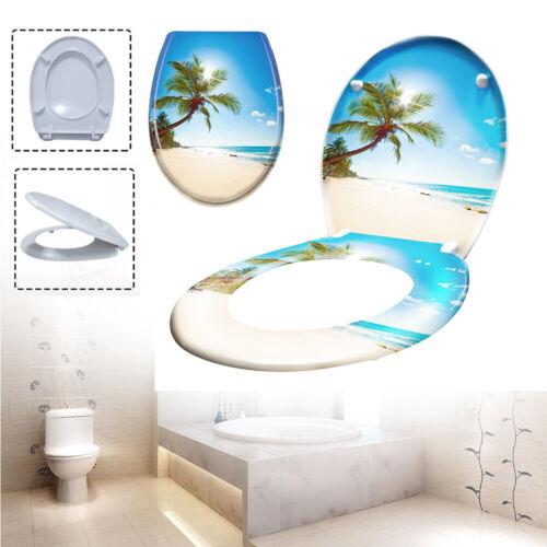 Klodeckel WC Sitz Absenkautomatik Toilettensitz Strand Toilettendeckel Deckel *