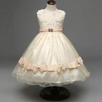 Flower Girl Formal Princess Dress Kid Toddler Wedding Bridesmaid Pageant Dresses