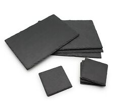 Dining Table ware Set Natural Slate Board Mat 4x Placemats 4x Coasters Gift Idea