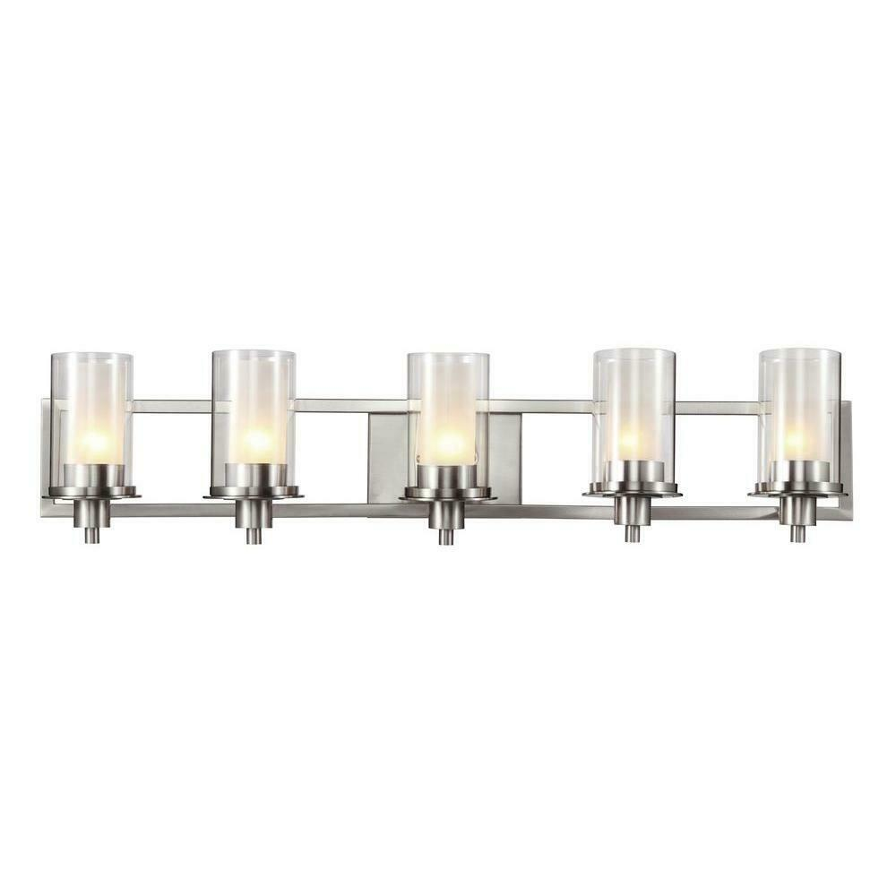 Bel Air Lighting Odyssey 5 Light Brushed Nickel Bath Light For Sale Online
