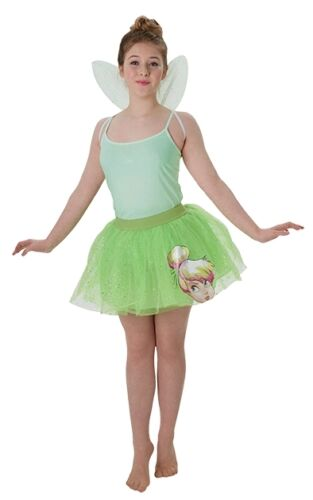 Ladies Teen Disney Tinkerbell Fairy Tutu /& Wings Fancy Dress Costume Outfit Kit