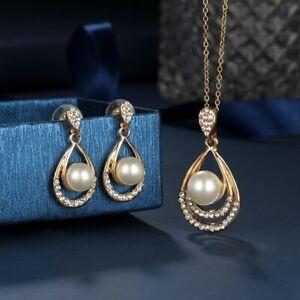pearl-hochzeit-schmuck-braut-drop-anhaenger-ohrringe-schmuck-set-halskette