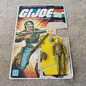Vintage GI Joe Figure 1982 Zap (unbroken) complete with full file card