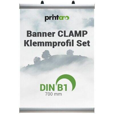Die-Alu-Profi-Klemmschienen als Set  CLAMP DIN B2//50 cm