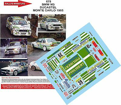 DECALS 1//24 REF 333 BMW M3 FINA MARC DUEZ RALLYE MONTE CARLO 1989 RALLY BELGIQUE