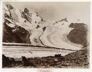 Suisse-le-col-de-Saint-Theodule-Alpes-pennines-vue-panoramique-Vintage-album